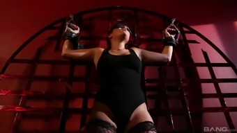 Succulent rapt blindfolded The united kingdom Keyes taking pleasure in her BDSM action