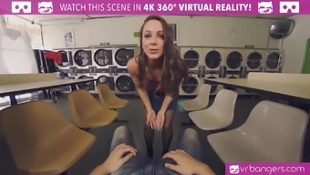 Abigail Mac is assuming additional burden with this immersive VR adult porn show.