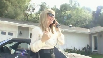 Vibrant nerdy cougar Nina Hartley want to get her mature cunt fucked missionary