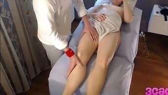 Concealed Cam at Massage session Parlour Anal passage Play