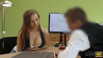 Ample breasted Czech chick Suzie is fucked for the price on the job