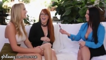 Girlsway Angela Light Major Titty Connect along with Brunette and Blone