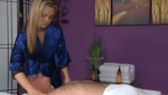 Bailey Blue Gives a contented Ending Rubdown