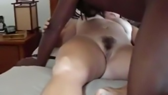 Surpassing man fucks my cuckold wifey missionary and breeds her