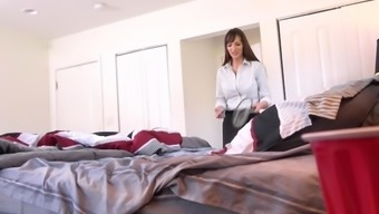 hot milf finds young stud son's condoms and shows him how