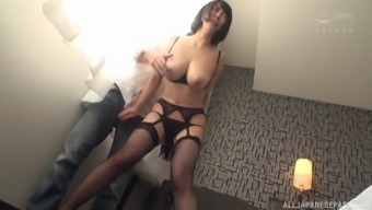 Busty Japanese Hanyuu Arisa gets her pussy licked and fingered