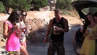Real sex party on the sunny beach, part 1