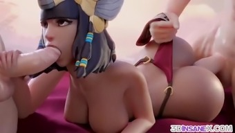 Overwatch babes fucked by big cocks