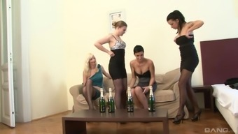 Interracial group fuck with Mandy Saxo and her mature slutty friends