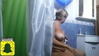 I finally could spy on my aunt&#39s big tits!!!