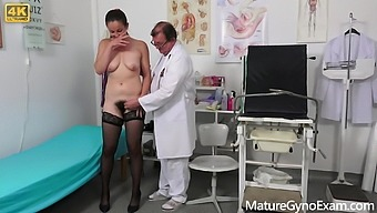 Hairy MILF Valentina Ross old pussy exam by freaky doctor