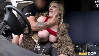 Busty country slut leaves cop to bang her pussy and ass