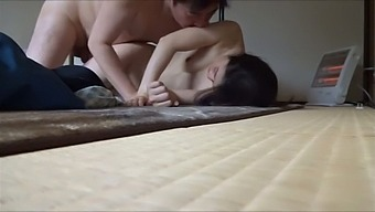 She only looks shy and she tries to suck her hubby's dick as often as she can