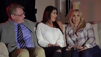 A Wife Has A Threesome With The Neighbours While Her Husband Sleeps With Karlie Simon And Kristof Cale