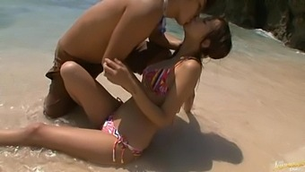 Amazing outdoors fucking ends with cum on ass for sexy Akina