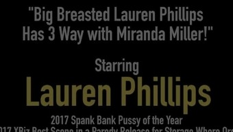 Large Breasted Lauren Phillips Has 3 Approach with the use of Miranda Miller!