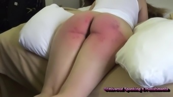 Welting Her Unused Lower! - (Spanking)