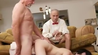 Old guy young love shower Alex Harper