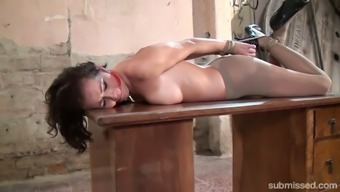 Tied up undressed babe Adel Sun light is enjoyable counter