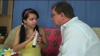 grandpa crazy about attractive busty teen