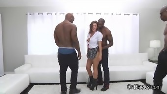 Major tit coed on 5 great black dicks
