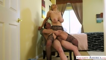 Julia Ann treasures being the plus sized girl and she excursions cock such as a victor