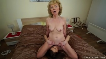 kinky currency pair granny szuzanne loves katy rose's epic pussy