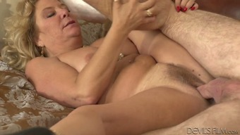 Immoral blonde age Karen Summer fucks grand father Jay Employees