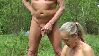 Automobile Pulsating, wanking in wood and shore, intercourse with the use of viewers