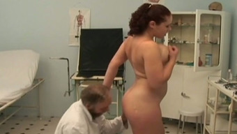Busty Offenseman hooker fucks horny old medical professional in his place of work