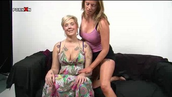 Britain Lesbians Holly and Mandy Pussy Fisting