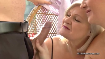 Males stripper gets blessed with the use of granny and mature