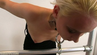 Intense punishment for blond love-making cash source on milking system