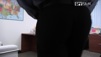 Step-Son Sexually Struggling By Step-Mom In the office