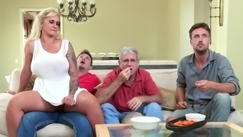 Large booty wife gets juvenile youngster to damage her brushed twat