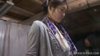 Extreme possibility clip with Japanese hussy enjoying back banging