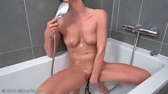Heated and perverted penis feeling hungry milf ring fingers her fuck hole