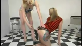 Needled on Cowgirl gets whipped and toyed by Adriann Nicole