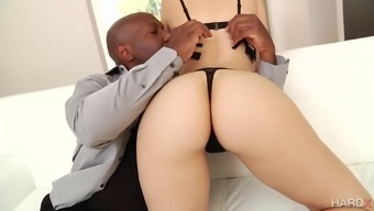Fantastic blond Alexa Style moves a large inimitable dick in their wet clit