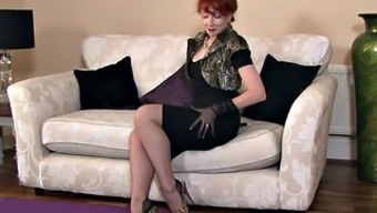 Redhead Mothers With the use of Stockings In Lick Performance