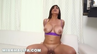 MIA KHALIFA - Getting extra incline from J-Mac in support of moments! (mk13784)