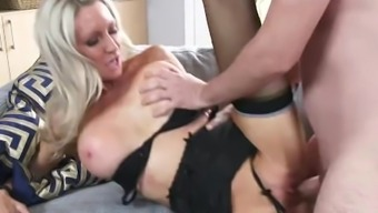 Slutty Action mother Emma Starr Gives Best Blowjob her move son and can help himcum
