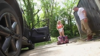 Major tits black Alessandra Jane fucked outdoor for getting a trip