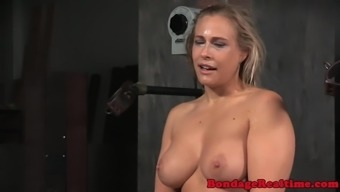 Machine fucked bonded hooker throated sincerely