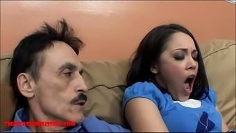 Miniscule oriental youngster small pussy gets cracked by grimy old adult man and gets grand father ejaculate in her own lips