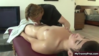 Trans alexa scout ass fucked by her bfs after massage session