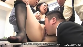 Lovely from asia milf ai mizushima will be handled to actually bukkake by work colleagues