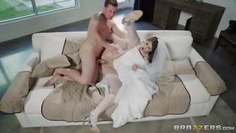 By far the most stunning future bride does a brilliant cowgirl cock cycle