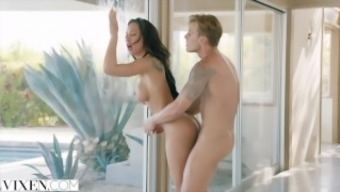 Fox Sizzling and Small Latina Hack on Partner