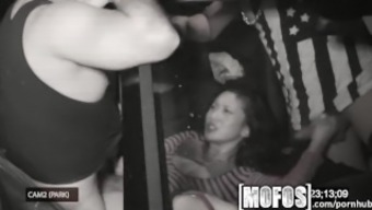 Mofos - Threesome along with Alina LI is wedged on digicam